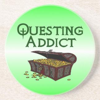 Questing Addict Beverage Coasters