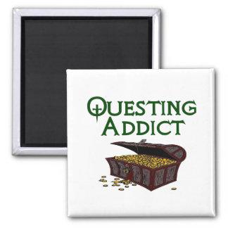 Questing Addict 2 Inch Square Magnet