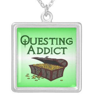 Questing Addict Square Pendant Necklace