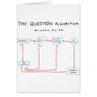 Question Algorithm Card