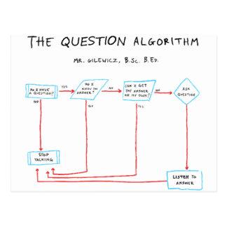 Question Algorithm Postcard