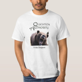 QUESTION AUTHORITY at Your Peril T-Shirt