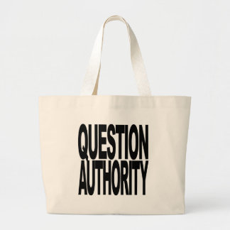 Question Authority Canvas Bags
