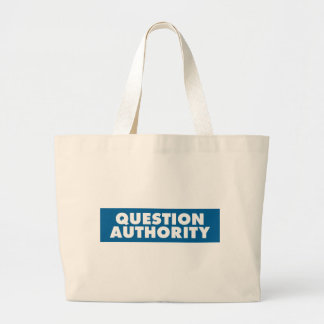 Question Authority - Blue Bags