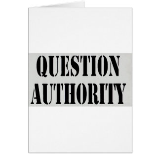 Question Authority Card