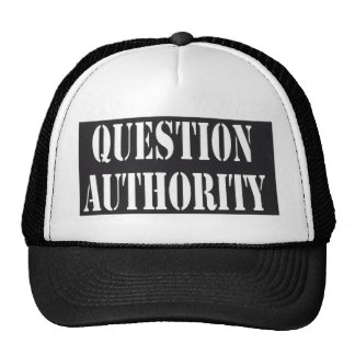 Question Authority Mesh Hat