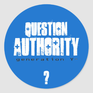Question Authority II Sticker