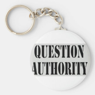 Question Authority Key Chains