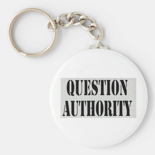 Question Authority Keychain