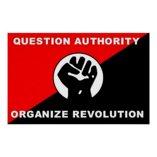 Question Authority Organize Revolution poster