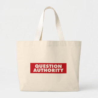 Question Authority - Red! Canvas Bags