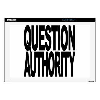 """Question Authority Decals For 17"""" Laptops"""