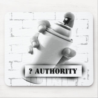 Question Authority - Spray Paint Can - Graffiti Mouse Pad