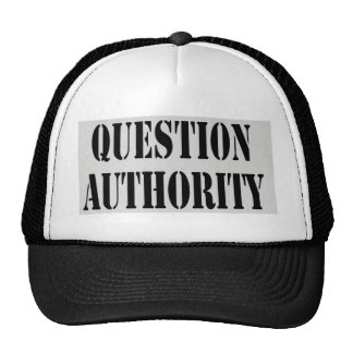 Question Authority Trucker Hat