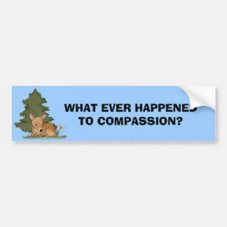 Question Compassion Bumper Sticker