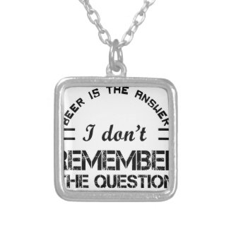 Question design cute silver plated necklace