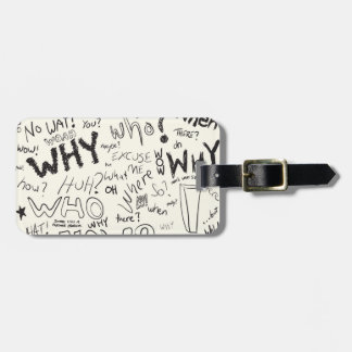 Question Doodles Luggage Tag