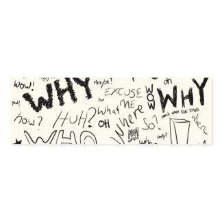Question Doodles Mini Business Card