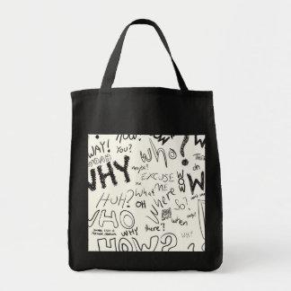 Question Doodles Tote Bag