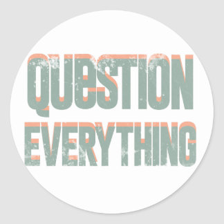 Question Everything Classic Round Sticker