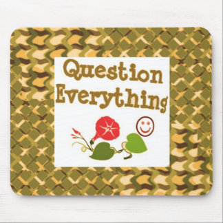 Question EVERYTHING: Meditate WISDOM word LOWPRICS Mouse Pad