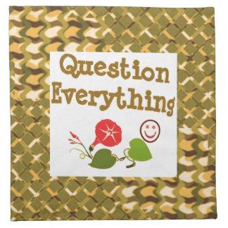Question EVERYTHING: Meditate WISDOM word LOWPRICS Napkin
