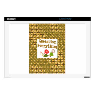 Question EVERYTHING: Meditate WISDOM word LOWPRICS Skins For Laptops