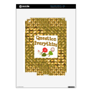 Question EVERYTHING: Meditate WISDOM word LOWPRICS Skin For iPad 2