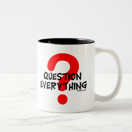 Question Everything Two-Tone Coffee Mug