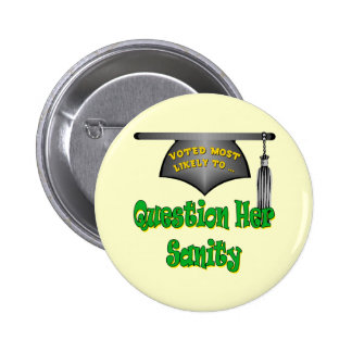 Question Her Sanity 2 Inch Round Button