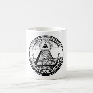 Question Illuminati New World Order Classic White Coffee Mug