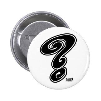 Question Mark 2 Inch Round Button