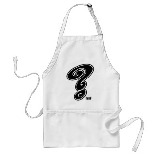Question Mark Adult Apron