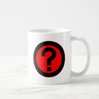 Question Mark Ask Query Symbol Punctuation Classic White Coffee Mug