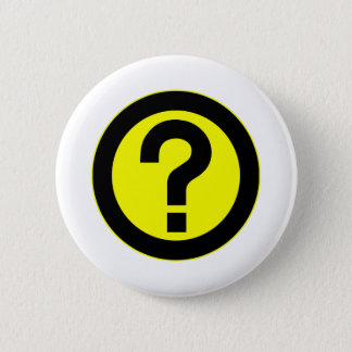 Question Mark Ask Query Symbol Punctuation Pinback Button