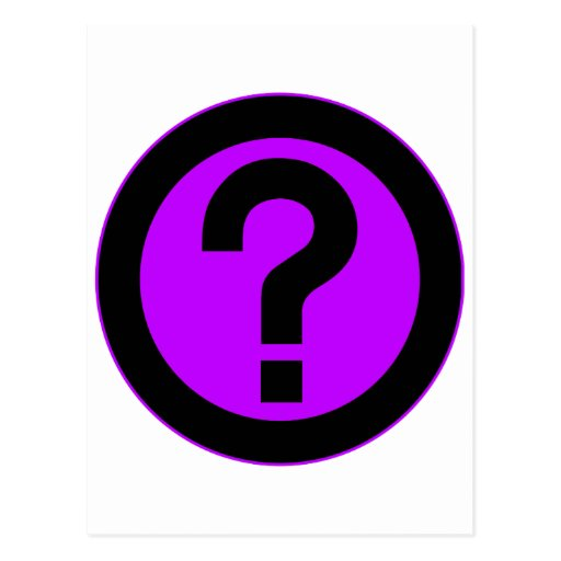 Question Mark Ask Query Symbol Punctuation Postcard