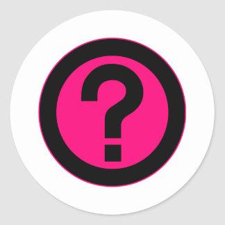 Question Mark Ask Query Symbol Punctuation Round Stickers