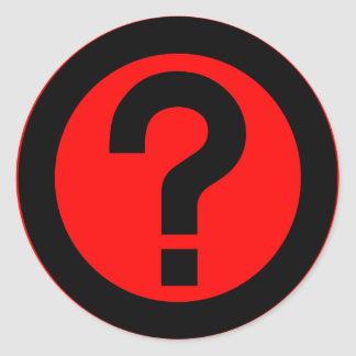 Question Mark Ask Query Symbol Punctuation Round Sticker