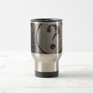 Question Mark Background BW 15 Oz Stainless Steel Travel Mug