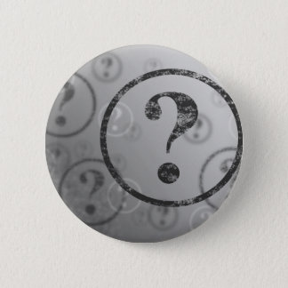 Question Mark Background BW Pinback Button
