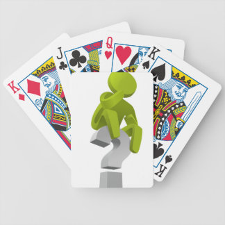 question-mark bicycle playing cards