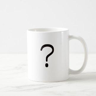 Question Mark? Black Blue Red Classic White Coffee Mug