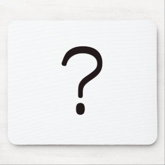Question Mark? Black Blue Red Mouse Pad