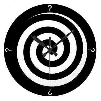 Question Mark Black Spiral Wall Clock