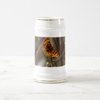 Question mark butterfly 18 oz beer stein