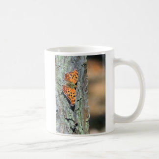 Question Mark Butterfly Classic White Coffee Mug