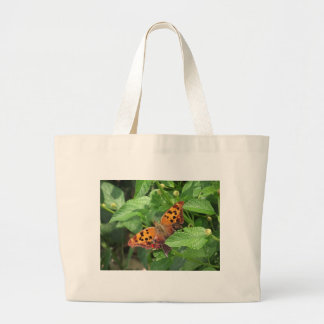 Question Mark Butterfly on Lantana Large Tote Bag