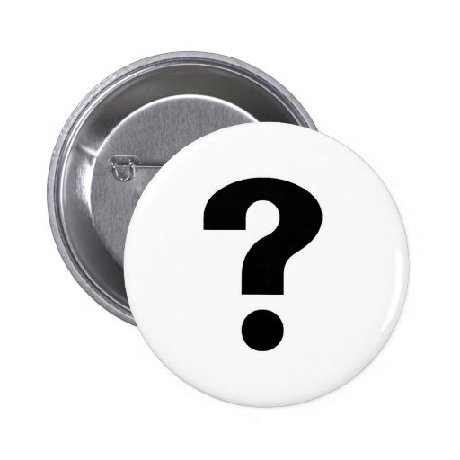 question mark pinback buttons
