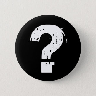 Question Mark Button on Black