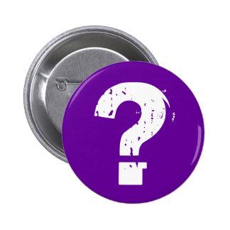 Question Mark Button on Purple